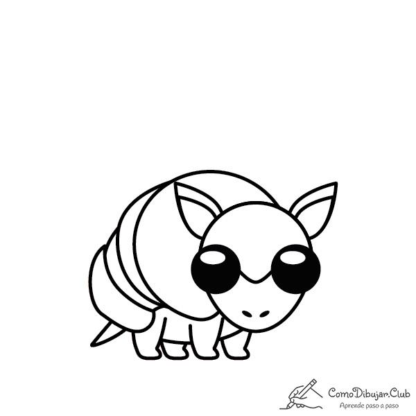 armadillo-kawaii-colorear-imprimir-dibujo