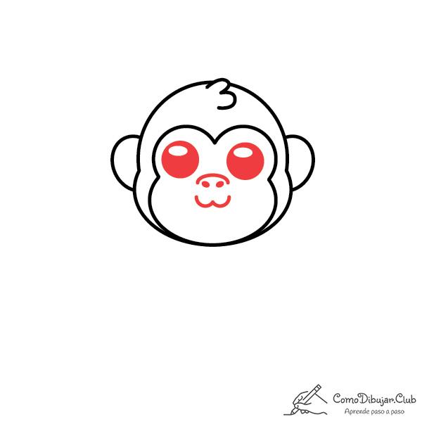 dibujar-gorila-kawaii-facil