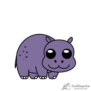 hipopótamo-kawaii