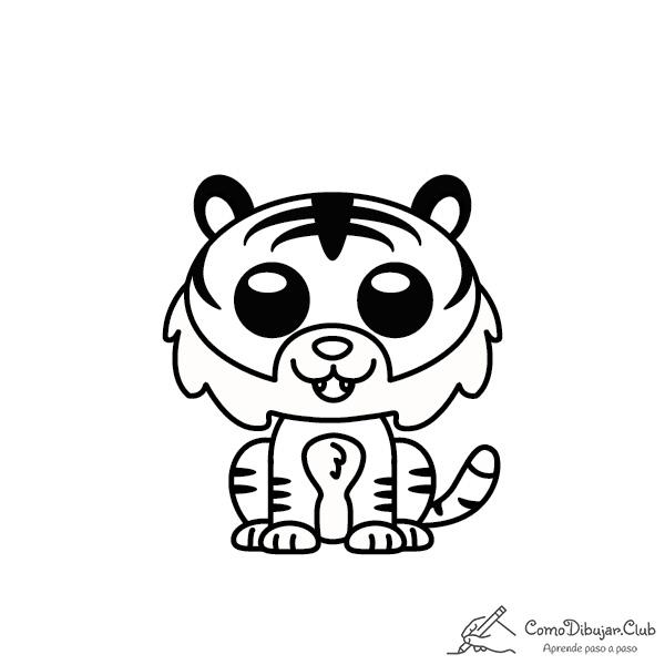 Tigre-kawaii-colorear-imprimir-dibujo