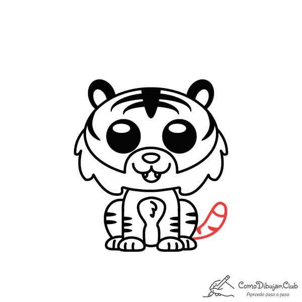 dibujar-Tigre-kawaii-facil-tutorial
