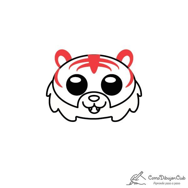 dibujar-Tigre-kawaii-paso-a-paso