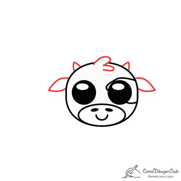 dibujar-Vaca-kawaii-paso-a-paso