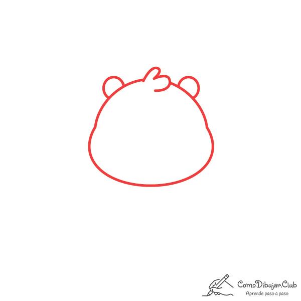 dibujar-cabeza-nutria-kawaii