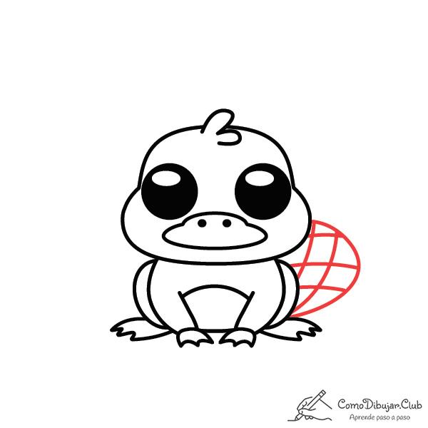dibujo-ornitorinco-kawaii-bebe
