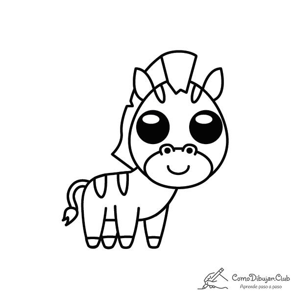 cebra-kawaii-colorear-imprimir-dibujo