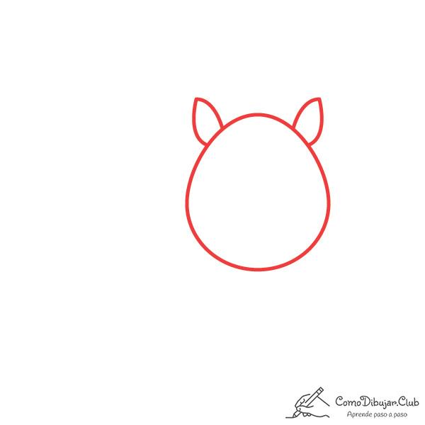 dibujar-cabeza-cebra-kawaii
