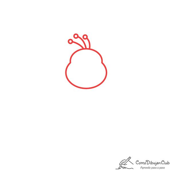 dibujar-cabeza-pavo real-kawaii