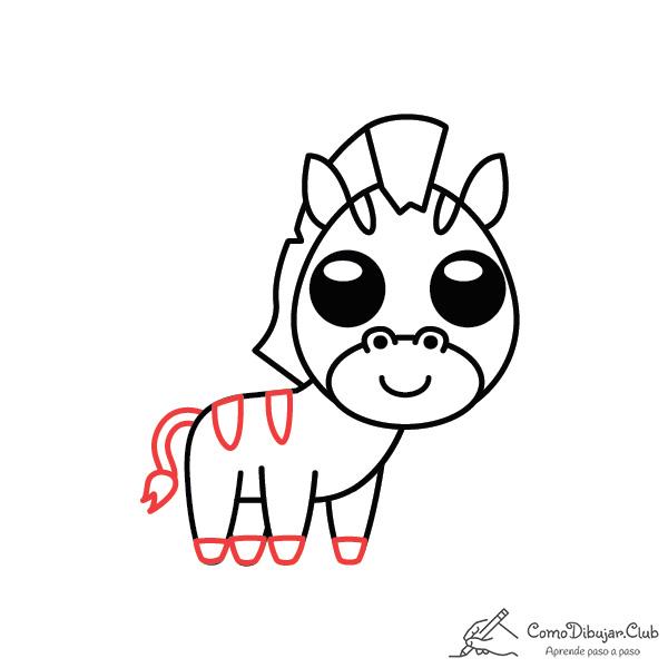 dibujo-cebra-kawaii-bebe