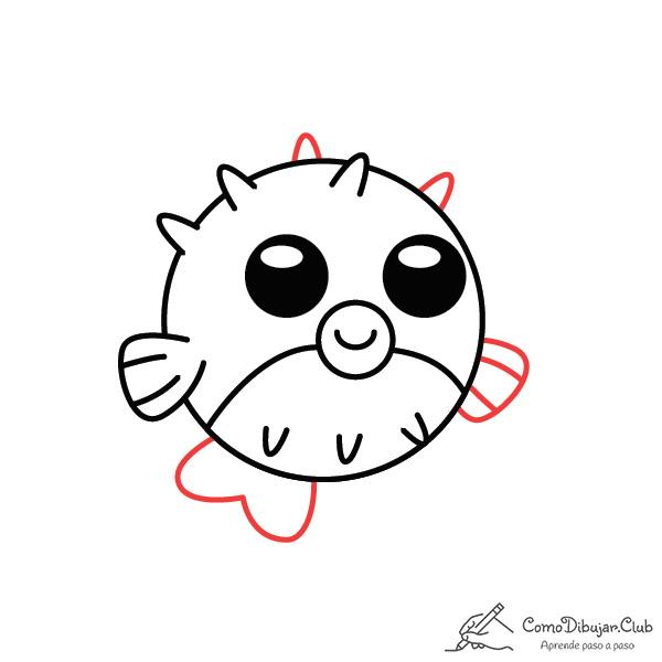 dibujo-pez globo-kawaii-bebe