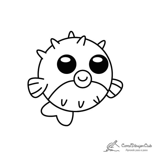 pez globo-kawaii-colorear-imprimir-dibujo