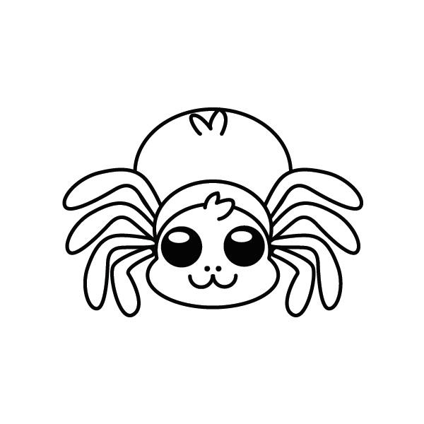 araña-kawaii-colorear-imprimir-dibujo