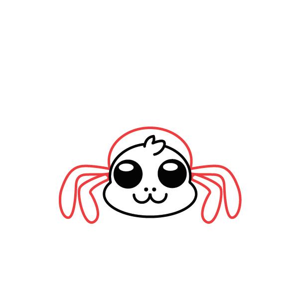 dibujar-araña-kawaii-paso-a-paso